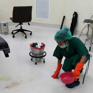 การบริการทำความสะอาด โรงพยาบาล หรือสถานประกอบการที่ควบคุมเชื้อ